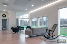 LED valot olohuoneeseen superled.fi Decor, Furniture, Floor Chair, Deco, Led, Chair, Home Decor, Flooring