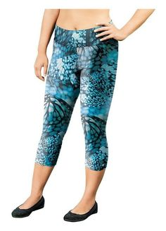 94a10fc09aed4 Champion Women s Plus PRINTED CAPRIS with SmoothTec™ Band Capri Leggings
