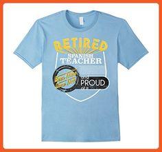 Mens Retirement Shirt Spanish Teacher Retirements Large Baby Blue - Careers professions shirts (*Partner-Link)