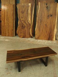 David Alan Collection - Live edge coffee table , Indonesian rosewood slab. www.thedavidalancollection.com