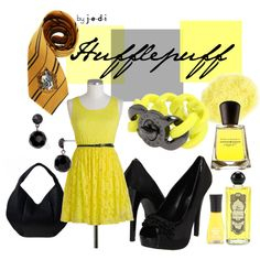 Hufflepuff., created by j-e-d-i on Polyvore