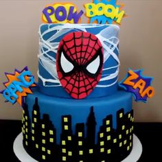 """Kids' Cakes Compilation There's nothing like – """"I have run out of cakes' ideas""""😋 Credit: The Lovely Baker Spiderman Torte, Spiderman Birthday Cake, Superhero Cake, Cake Birthday, Superman Cakes, Marvel Cake, Cake Decorating Videos, Cake Decorating Techniques, Cake Decorating Tips"""