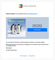 Publishing your book online – Book Creator Support Book Creator, The Creator, Globe Icon, Emperor Penguin, Used Books, Books Online, App, Website, Reading