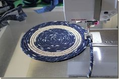 coiled clothesline basket, coasters, mat  nebraskaviews.blogspot.com