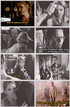 Buffy and the person who loves her the most, Giles