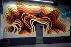 New Cavernous Murals by German Street Artist 1010