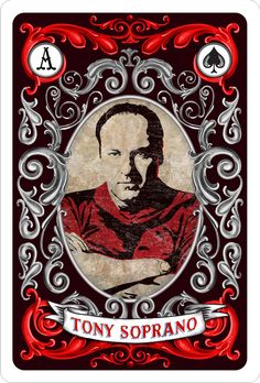 The Sopranos - Tony Soprano depicted as the Ace of Spades (the top card) #GangsterFlick