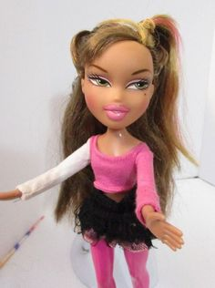 Bratz Doll Short Black Hair Jeans Black Top Jacket