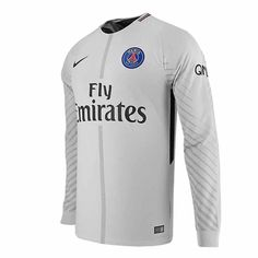 15fb85a46 2017-2018 PSG Home Nike Goalkeeper Shirt (Grey)
