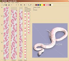 "VITALINNA: Mon ""serpentarium"" 2 (motifs pour les colliers au crochet) More snake motifs here. In Polish."