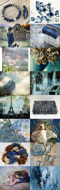 Different Shades of Blue by Debra on Etsy--Pinned+with+TreasuryPin.com
