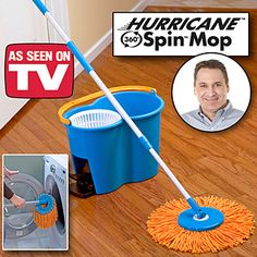 Hurricane Spin Mop 360 Wash, Dry and Polish - As Seen On TV Items