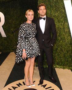 Diane Kruger Giambattista Valli Joshua Jackson Vanity Fair Oscar 2013