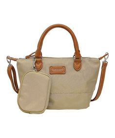 Another great find on #zulily! Khaki Logan Small Tote Bag by Franco Sarto #zulilyfinds