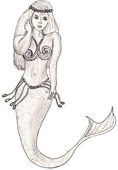 how to draw a realistic mermaid