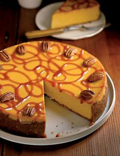 Pumpkin Cheesecake Recipe | Leite's Culinaria
