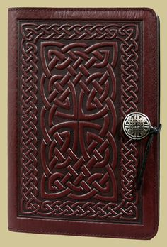 Leather journals, handmade by Oberon Design, in the U. Refillable covers available in a variety of sizes, images & colors. - Details - Specs - Video - FAQ Our handmade products take 3 - 5 days to Leather Notebook, Leather Books, Leather Journal, Celtic Patterns, Celtic Designs, Celtic Braid, Celtic Knots, Small Journal, Work Journal