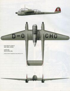 Artwork Focke Wulf Fw 189V4 WNr 0001 D OCHO Germany 0A