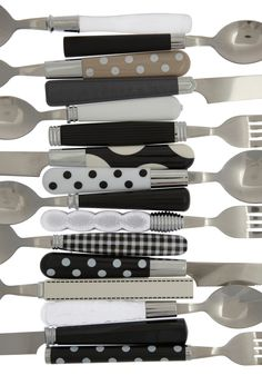 Mix & Munch Flatware Set in Monochrome | Mod Retro Vintage Kitchen | ModCloth.com