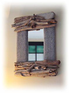 POLAR specchio con legni di mare, by Tendance Nature, su misshobby.com