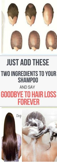 Just Add These Two Ingredients To Your Shampoo And Say Goodbye To Hair Loss..!! !!!