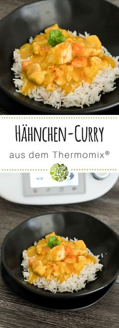Gemüse-Curry mit Hähnchen aus dem Thermomix® - will-mixen.de - - Gemüse-Curry mit Hähnchen aus dem Thermomix® – will-mixen.de essen Fruity vegetable curry with chicken from Thermomix®️️️️. Meat Recipes, Healthy Dinner Recipes, Salad Recipes, Healthy Snacks, Chicken Recipes, Hamburger Recipes, Quiche Recipes, Recipe Chicken, Healthy Nutrition