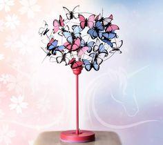 lámpara de mesa diseño infantil mariposas decoración nena