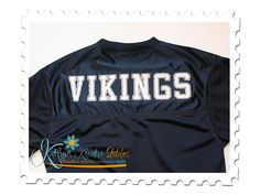 Vintage Sports Applique Font for Machine Embroidery