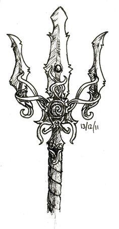 poseidon trident art - ⚓By Poseidon Tattoo, Poseidon Trident, Zeus Tattoo, Inca Tattoo, Viking Symbols, Mayan Symbols, Egyptian Symbols, Viking Runes, Ancient Symbols