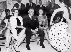 Jacqueline Kennedy with Princess Grace in Spain.
