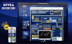 Interaktive, druckbare und teilbare Infografik zum Thema Männer. Landingpage für Skin Energy ATL Kampagne Marketing, Men, Infographic, Guys
