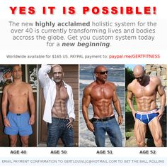 Enough said! JUST MAKE IT HAPPEN signup here: paypal.me/GERTFITNESS