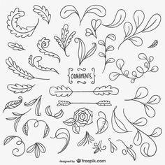 Hand Drawn Ornaments by freepik ♥