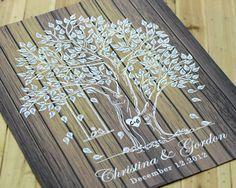 Wedding Guest Book  Signature Tree Wedding Keepsake by LiWedding