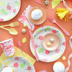 8 Floral Easter Bunny Paper Plate 18cm Easter Party Tableware Dessert Cake Plate