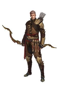 Male human archer, bow and arrow ranger RPG character inspiration Son of torren, lookes identical to lieten Fantasy Character Design, Character Design Inspiration, Character Concept, Character Art, Concept Art, Archer Characters, Dnd Characters, Fantasy Characters, Fantasy Art Men