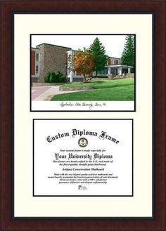Appalachian State Diploma Frame Lithograph Legacy Series