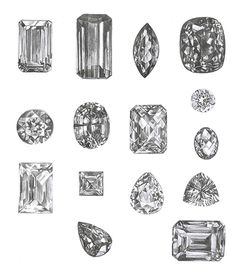 Square cut or heart shaped these rocks don't lose their shape! Diamonds are a girls best friend.