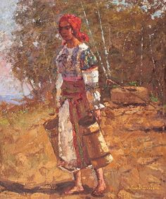 Pictures To Paint, Sketches, Paintings, Gardening, Gypsy Girls, Women's, Gypsy, Romania, Drawings