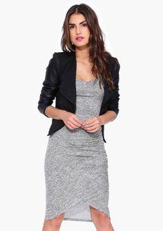 Camile Sweater Dress + Black Blazer