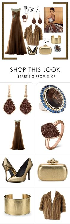 """Retro 8"" by kimmie-plus2 ❤ liked on Polyvore featuring H.Azeem, Lagos, Pierre Balmain, Alexander McQueen and Blue Nile"