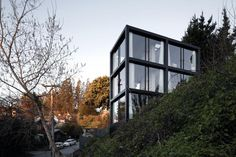 I think this is such an awesome house just need to put it in the woods so you can have a great view. but it is perfect for concise living in the cities just take out a few windows for privacy :) but my type of house. I love modern homes