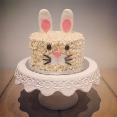 Bunny rabbit birthday cake