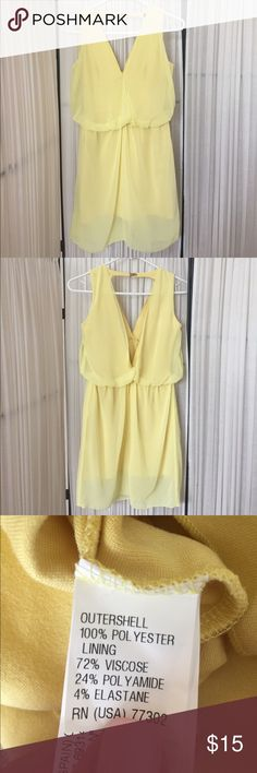 Yellow Dress from Zara This yellow dress from Zara has an open back and is absolutely gorgeous on! I wore it on vacation and it has been hanging in my closet ever since. Check out my bundle discount to save money when you purchase multiple items from my closet! Dresses Mini