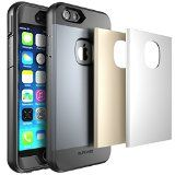 iPhone 6 Full-body Rugged Water Resistant Case Screen Protector and 3 Covers: Gray/Silver/Gold