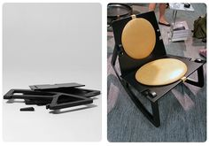 DESIGN HOUSE STOCKHOLMIn the state that you receive it, flat-packed and unassembled, you wouldn't recognize theFredrik Färg-designed Rock Chair as a DIY yet elegant spin on the classic rocker, presented in beige leather and black-lacquered wood (we bet they had you thinking it was metal, didn't they