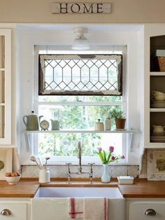 8 Ways to Dress Up the Kitchen Window {without using a curtain} | TIDBITS&TWINE