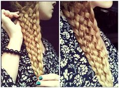 Easy Eleven Strand Braid with NO BOBBY PINS! OMG! I want to do this. I need longer hair like now. :)