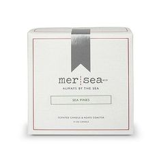 Mer Sea Sea Pines Boxed Candle  Agate Coaster 10oz *** Click image for more details.
