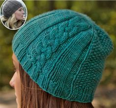 Free Knitting Pattern for Once Upon a Time: Emma's Dreamy Hat - Erica Harbin's cabled beanie is a reproduction of the hat Emma wore in the Dreamy episode of Once Upon a Time. Pictured project by AnnaKristine86